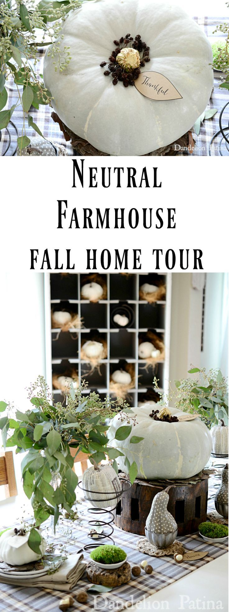Beautiful farmhouse style fall home tour overflowing with decorating ideas. Check it out.