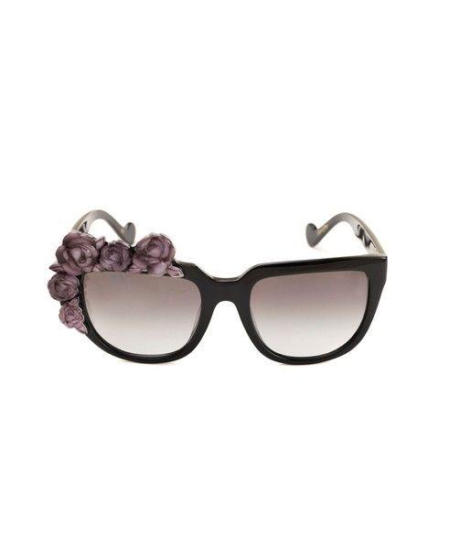 ANNA-KARIN KARLSSON Sunglasses  Rose Noir black variant graded black lenses acetated material provided with case and box