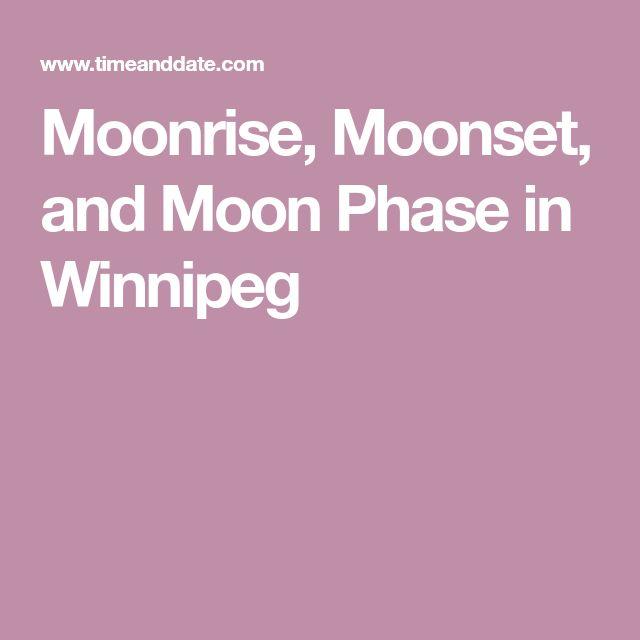 Moonrise, Moonset, and Moon Phase in Winnipeg