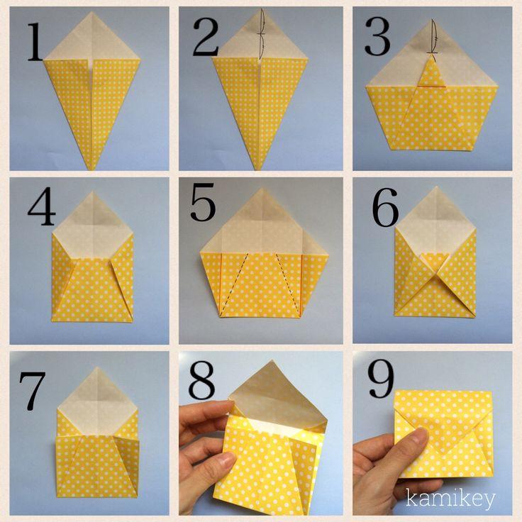 シンプル封筒 創作:kamikey 小さめなので、コインやメッセージカードを入れるのにちょうどいいサイズです^^ 先日、実際に小銭をお渡しする時に使いました…いくつか作っておくと便利かも ぜひかわいい柄の折り紙で折ってみてください! 単...