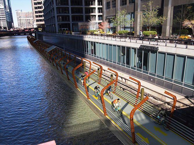 Está ficando mais fácil andar de bicicleta para trabalhar em Chicago. A cidade acrescentou 100 milhas de cicloviasnovas nos últimos cinco anos e, em 2019, planeja adicionar mais 50 milhas de pista…