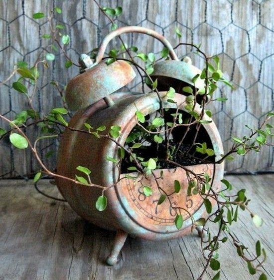 ausgefallene Gartendekoration selbst machen rostdeko Garten   – Gartentipps