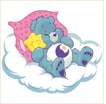 I had the actual bedtime care bear, but I couldn't find him on here. My bear was light blue, all the ones on here are green.