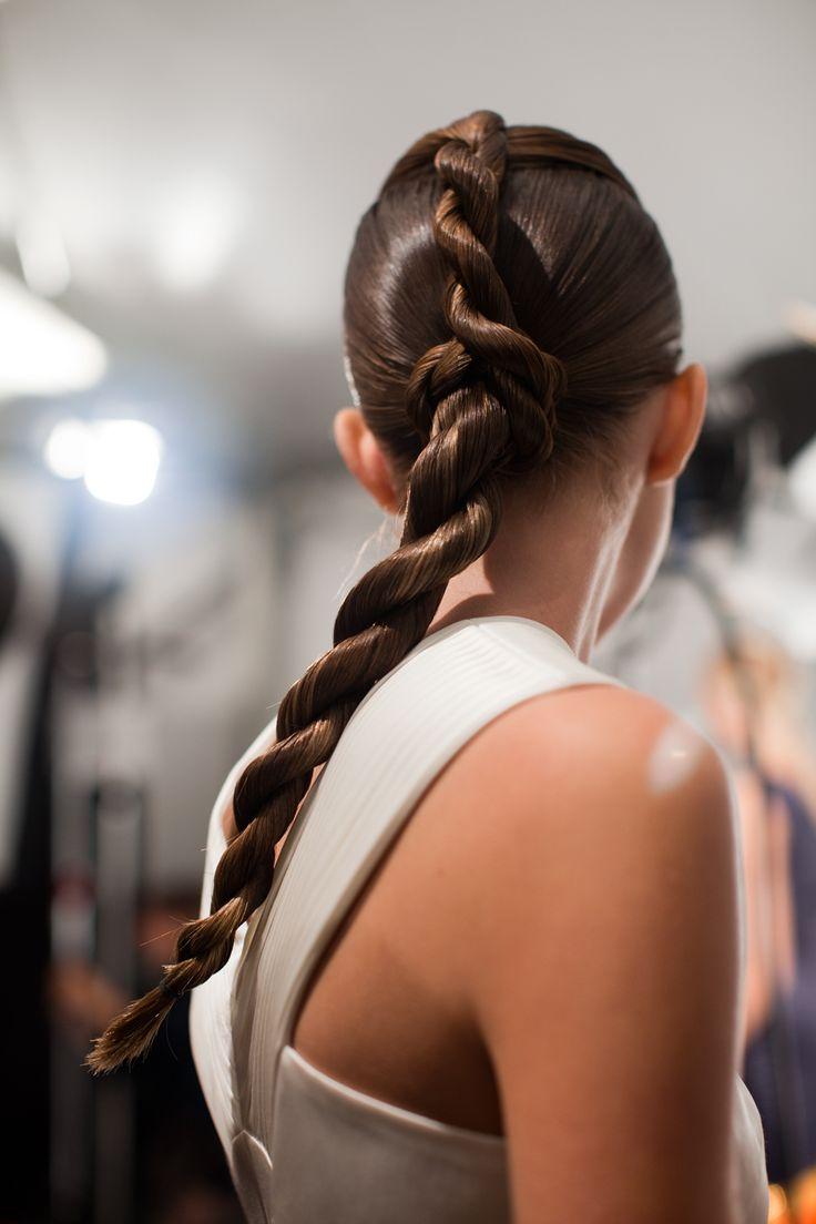 New York Fashion Week S/S 2013 Mathieu Mirano. Hair by Bb. Stylist Rolando Beauchamp #fashionweek #hair #bumble #fashion