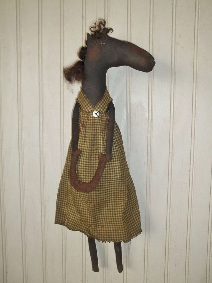 Primitive Grungy Whinnie the Horse Doll & Her Prized Horseshoe #NaivePrimitive