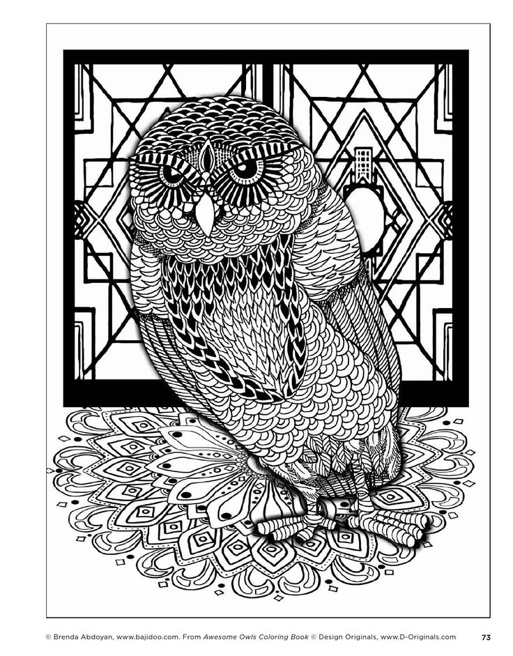 aztec owl coloring pages - photo#26