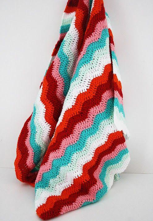 Crochet Ripple Stitch : Ripple stitch crochet blanket Textiel Pinterest