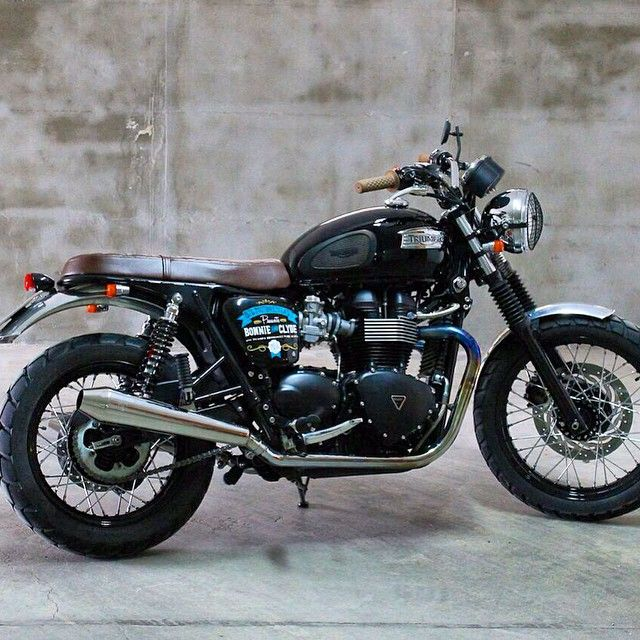 """Triumph Bonneville T100 project by BTC Motorcycles. Visit online store www.backtocustom.com for parts and accessories!!"""