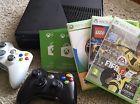 Microsoft Xbox 360 Slim 4GB Black Console bundle FIFA 17 2 Controllers