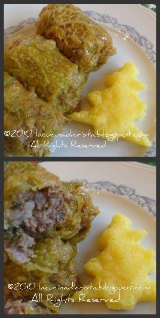Sarmale - Romanian cabbage rolls - Involtini di verza con carne (ricetta romena)