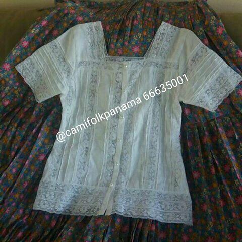 Talla M #Chambra INTERESADOS 66635001 WHATSAPP O LLAMADA. La Chambra panameña es confeccionada en tela de hilo revestido de finas alforzas, trencillas y encajes.