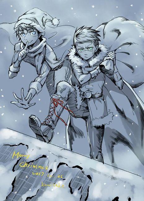 Merry Christmas 2017    Superboy and Robin    Jonathan Kent and Damian Wayne