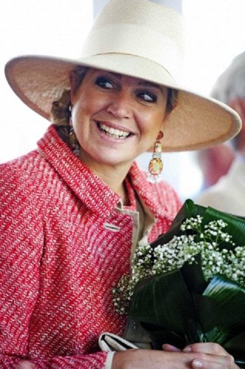 Koningin Maxima bij het Thomashuis in  Houten