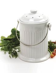 this ceramic compost crock is attractive enough to keep on the kitchen counter collect kitchen scraps with style