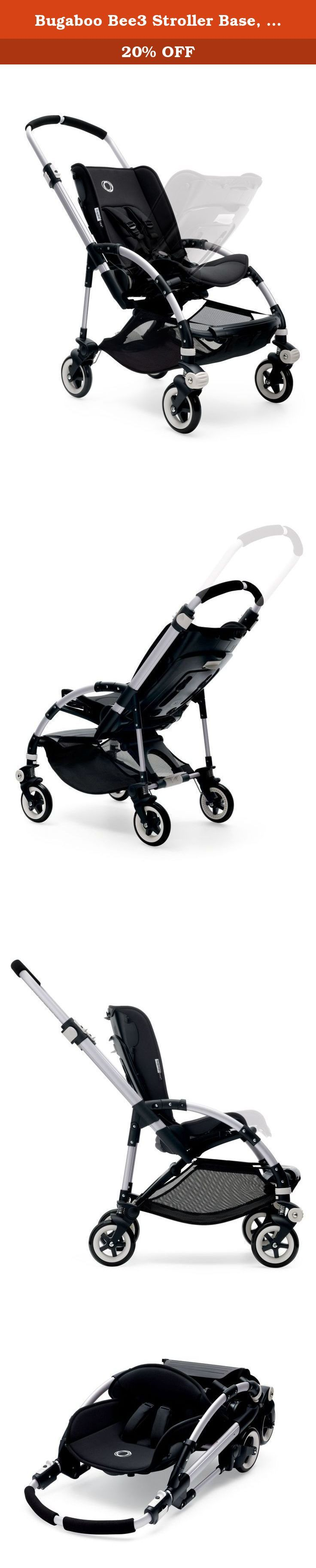 Bugaboo Bee3 Stroller Base, Aluminum. The Urban stroller for parents who live life on the fly. Designed specifically for parents who live life on the fly, the Bugaboo Bee3 for newborn to toddler features an easy to carry lightweight bassinet for exploring the city without disturbing your sleeping child - and an extendable sun canopy offering them even more protection. Brand new fabrics and colors offer creative style combinations and refresh options, while a larger undersea basket means…