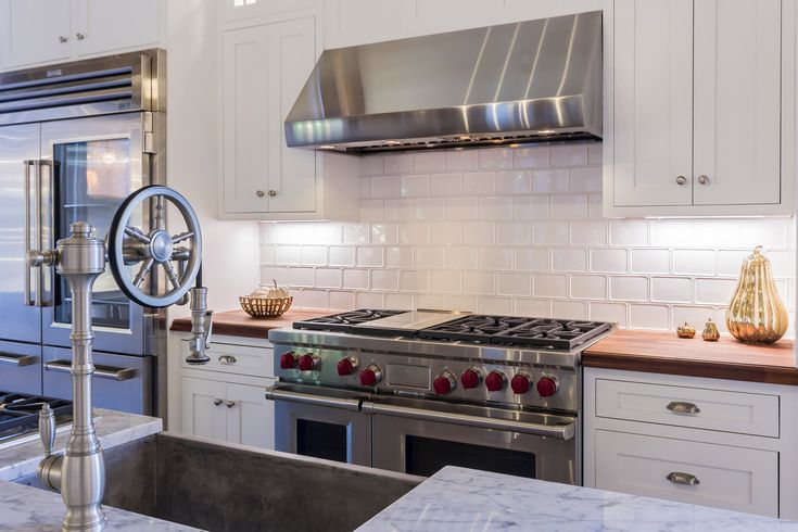 The best luxury brands offer commercial style refrigerators, professional gas ranges or wall ovens, quiet dishwashers, and high CFM ventilation. These luxury brands include Sub-Zero and Wolf, Miele, Gaggenau, La Cornue, Thermador, and Viking...