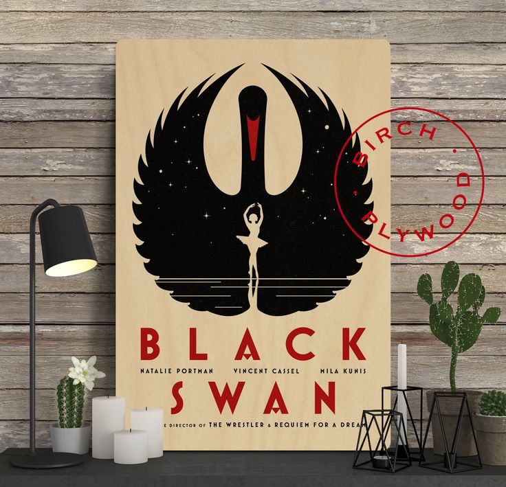 BLACK SWAN Movie - Poster on Wood, Natalie Portman, Mila Kunis, Vincent Cassel, Winona Ryder, Unique Gift, Movie Poster, Poster Frame by InHousePrinting on Etsy