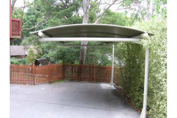 Outrigger Carport Curved Batten Awning