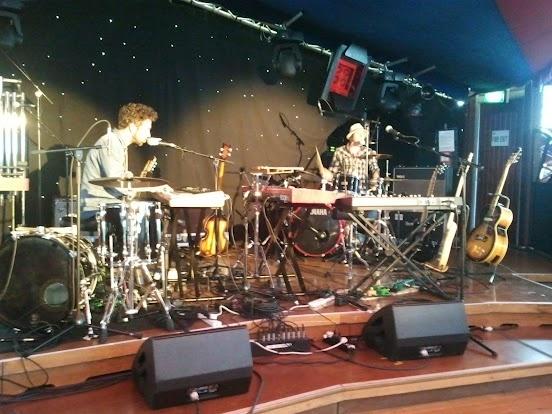 Tubular Bells for Two NZ International Festival sound check Photo