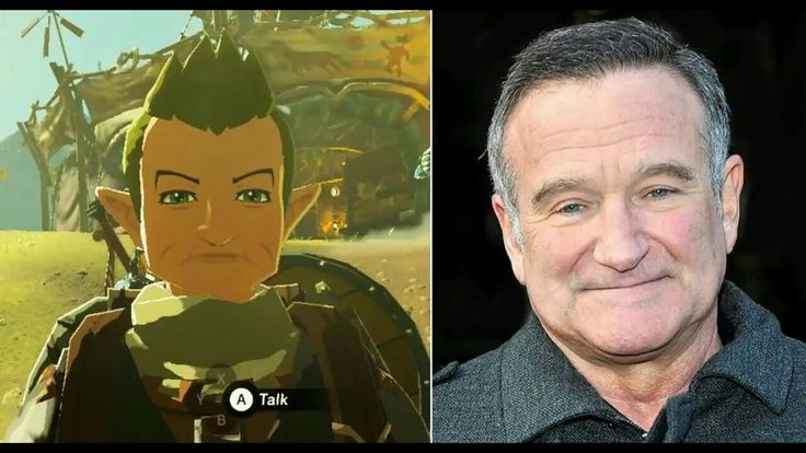 Robin Williams was one of the biggest Legend of Zelda fans on the planet. He even named his daughter Zelda. To pay their respects, Nintendo put him in Breath of The Wild. Way to go Nintendo.