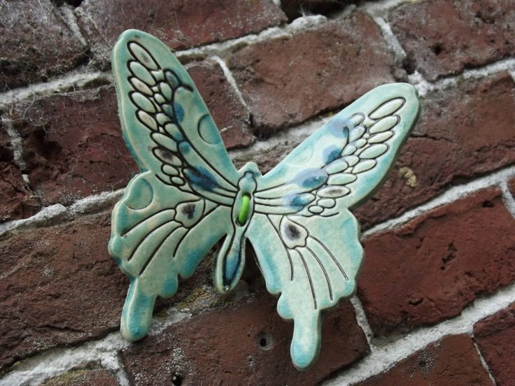 Ceramic Butterfly On Wall Ceramics Ceramics Porcelain