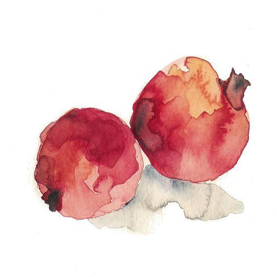 Pomegranates No.3 digital art  print of original by TheJoyofColor, $21.00
