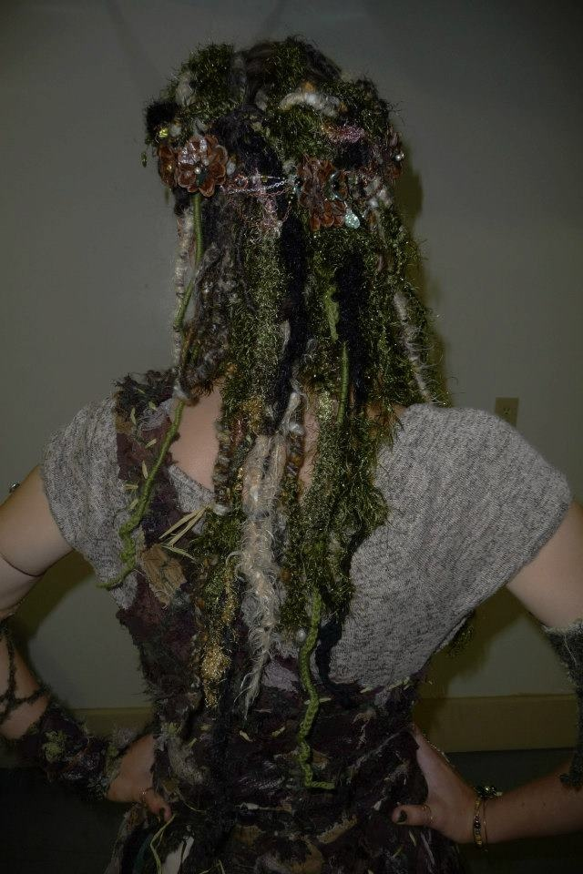 The Hair , ent wife costume by Sew Many Seams, jewelry by Shaylynn's Fairy Shoppe ......add moss, twigs, leaves.......