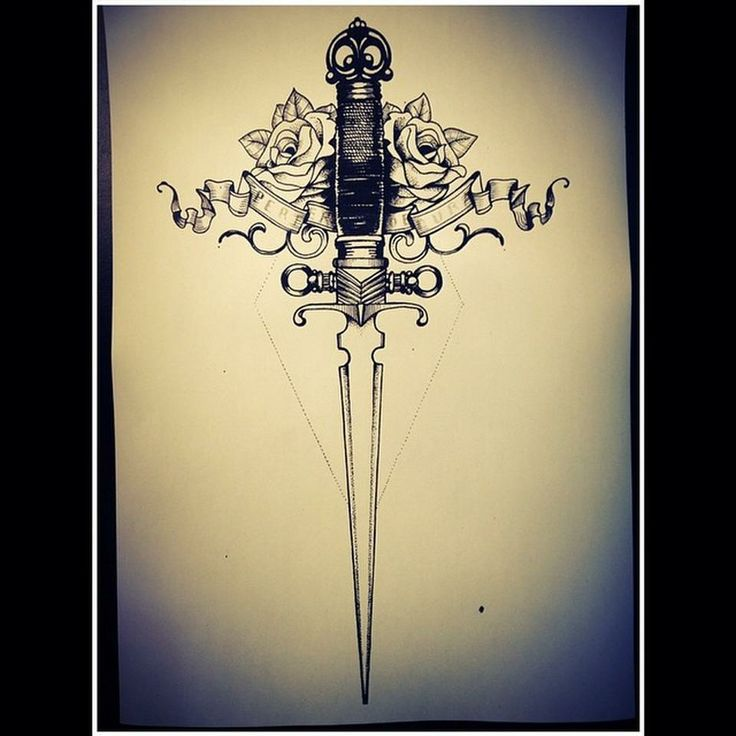 Engraving Victorian style knife and roses  by Miss Sita @ One O Nine Barcelona http://www.109.es