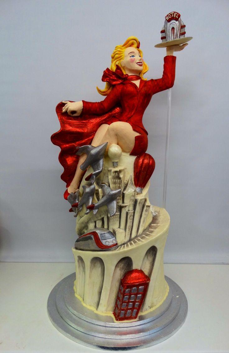 Richard Branson's cake to celebrate the story of Virgin... so far