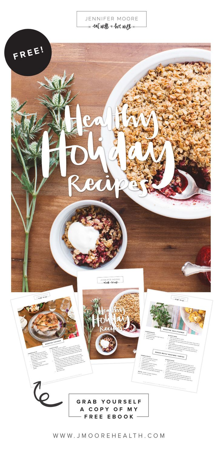 Free Ebook: Healthy Holiday Recipes!