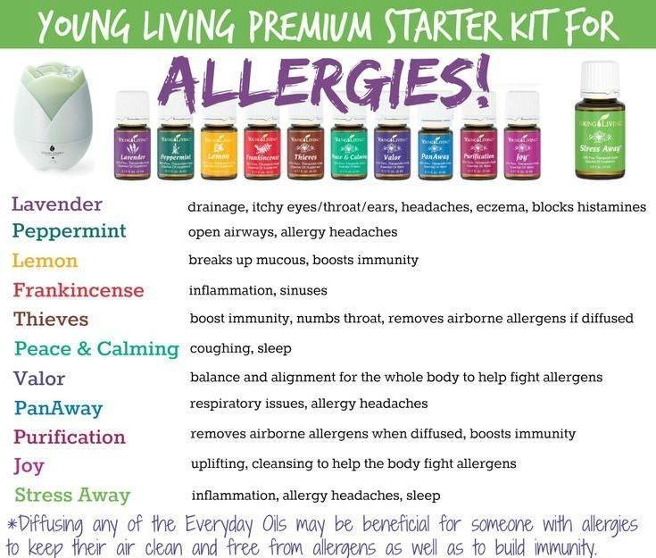 Fight your allergies with Young Living Essential Oils. The Premium Starter Kit has something to tackle every angle of pesky allergies. Michelle Giblin - YL Distributor #1822966.