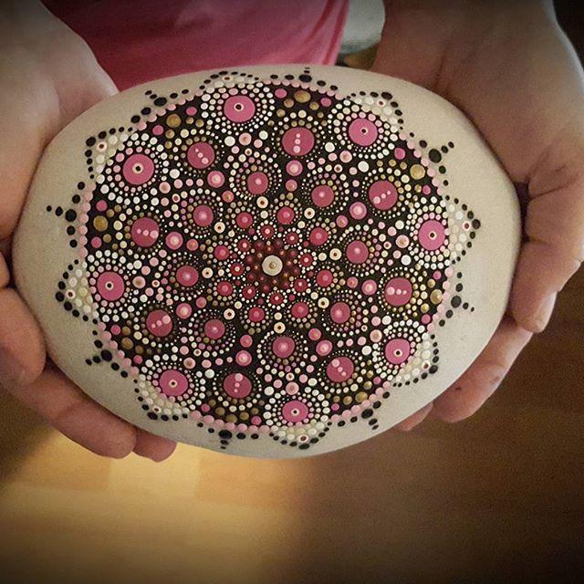 Giant Mandala stone #happycreativesoul #namaste #mandalastone #mandala…