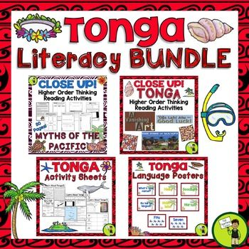 This bundle of differentiated reading, writing, thinking activities and language posters is a great way to focus on the Tongan language and culture. This would be perfect to use during Tongan Language Week - Uike 'o e Lea Tonga - 3 September. #Tonga #Reading #PacificIslands