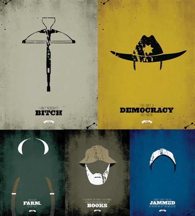 The Walking Dead Minimalist Posters 1