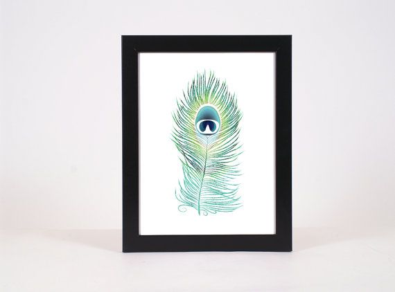Hey, I found this really awesome Etsy listing at https://www.etsy.com/listing/194889814/modern-peacock-print-bird-art-print