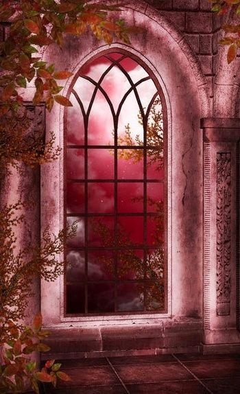 me gusta la ventana color rosa