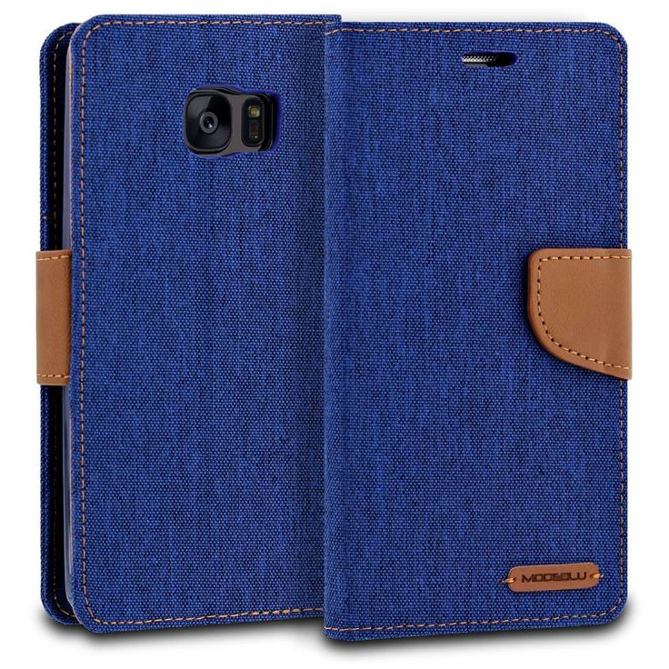 Galaxy Note 7 Case Pocket Diary Canvas Wallet Cover - ModeBlu