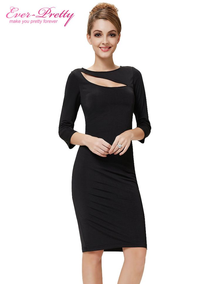 Cocktail Party Dresses HE05117BK 2017 Women Sexy 3/4 Sleeve Short Sexy On Line Cocktail Christmas Party Dress Plus Size