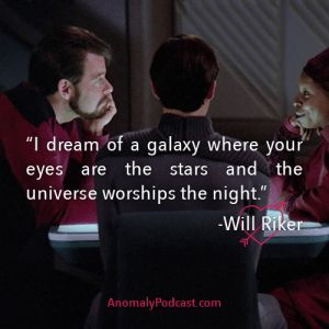 Commander Riker tries his pick up lines on Guinnan—Sci-Fi Fantasy Couples