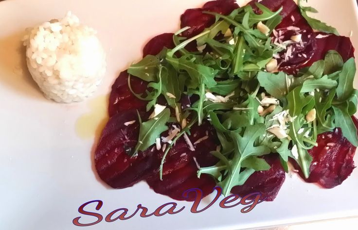 SaraVeg: Carpaccio  di barbabietola rossa -Vegan