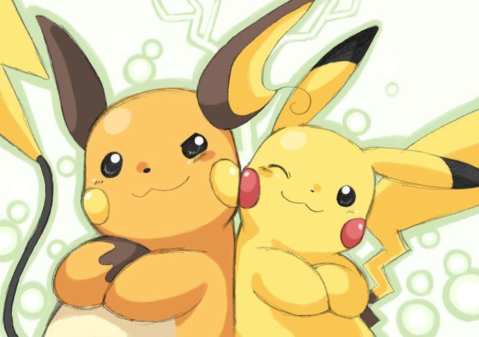 Pikachu and Raichu-- Raichu is my fav electric type Pokemon but without an epic Pikachu, you can't have an epic Raichu