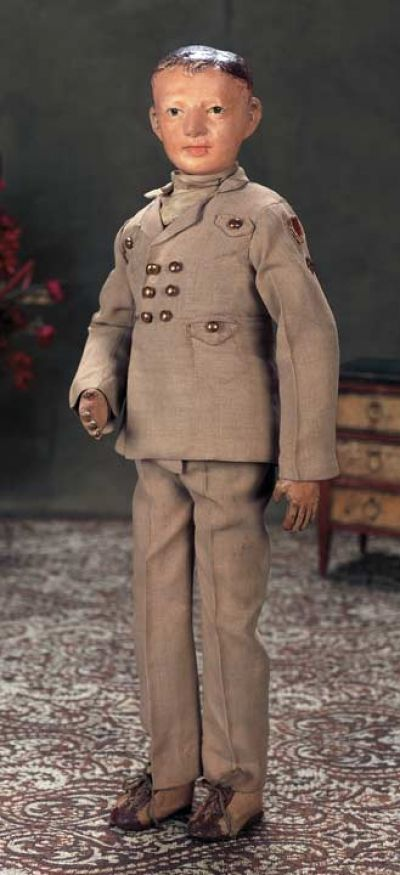 The Dolls in the House at the Top of the Hill: 226 Rare American Wooden Man in Army Uniform by Schoenhut