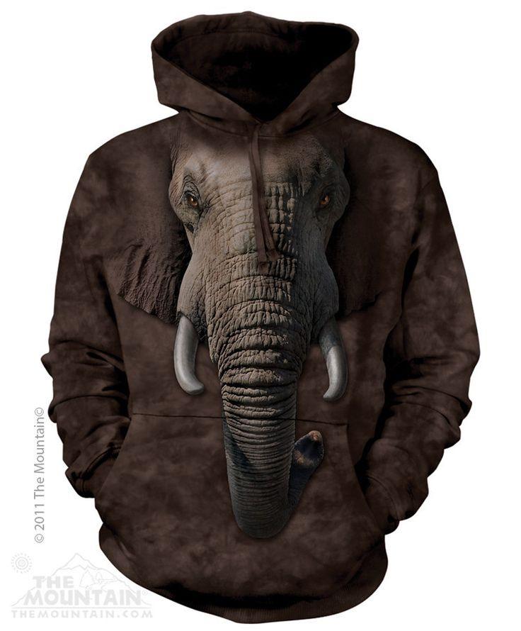 Elephant Face Hoodie