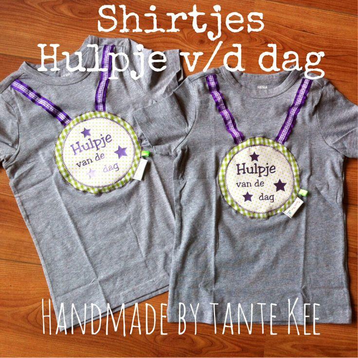Shirtjes hulpje van de dag - unisex - leuk voor het kinderdagverblijf of op school