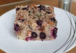 Blueberry and nut baked porridge - recipe on the blog: www.hairmakeup.co.uk/blog