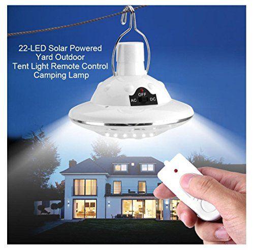 Solar Circular Hooking Remote Control Lamp,Rambling New 22LED Outdoor/Indoor Solar Lamp Camp Garden Lighting Wireless Powered Light - Big Sale Online Shopping USA