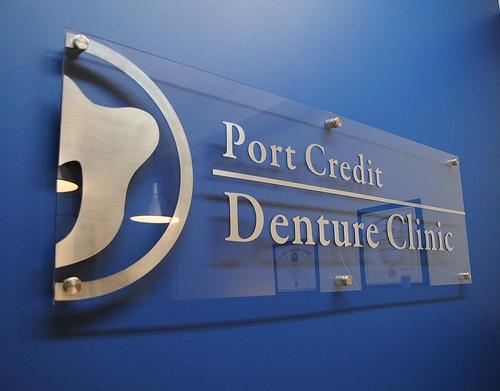 Port Credit Denture Clinic Reception Wall Sign