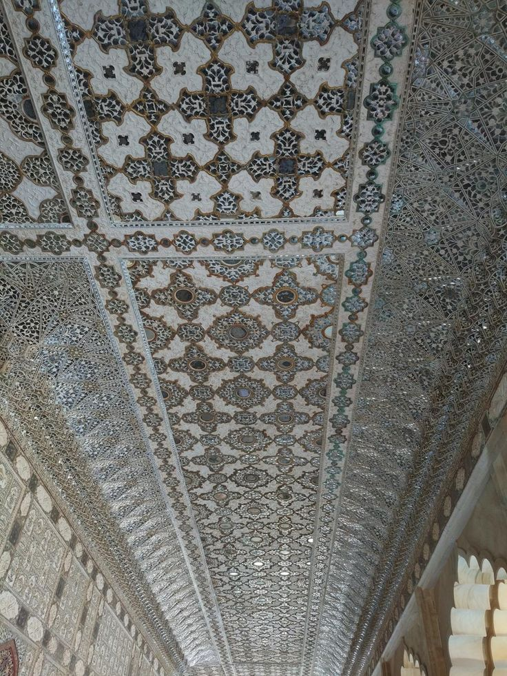 Ceiling inside the Amber Palace, near the City of Amer