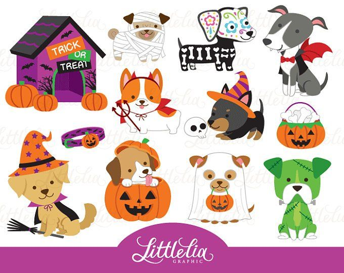 Dog Mom And Puppy Clipart Family Clipart 16053 Etsy Pet Halloween Costumes Puppy Clipart Halloween Animals