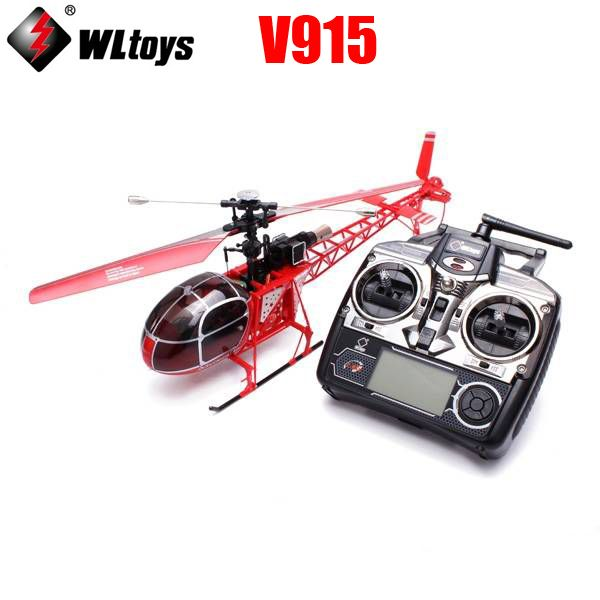 WLtoys V915 2.4G 4-CH LCD Control RC Helicopter Model with 6-Axis Gyro RTF //Price: $128.03      #followme